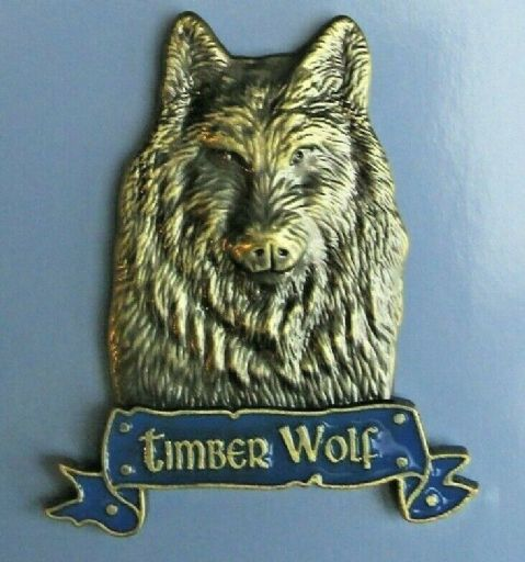 TIMBER WOLF MAGNET HEAVY DUTY METAL 3D ANTIQUE STYLE WOLF FRIDGE MAGNET